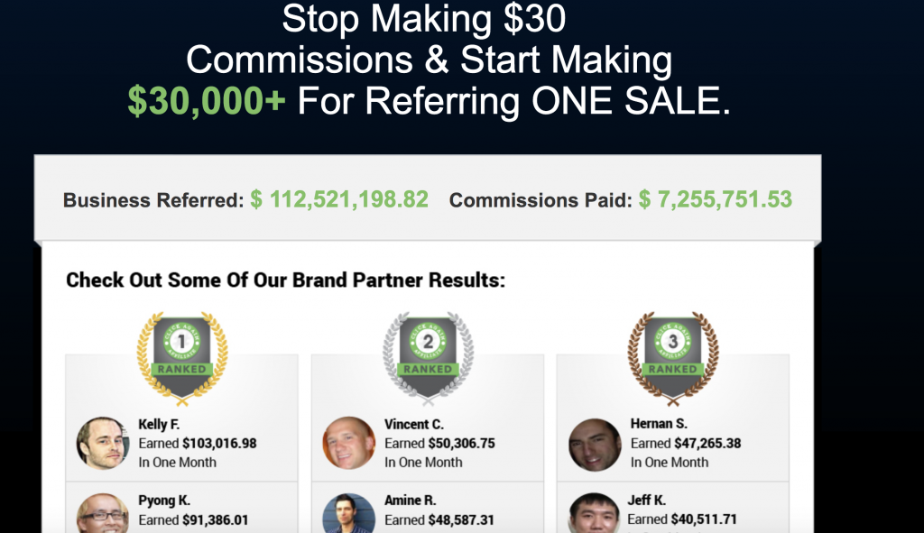 Start Making $30,000+ For Referring ONE SALE